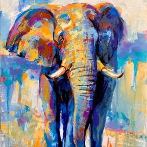 ELEPHANT painting on canvas